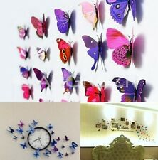 FD532 Colourful 3D Artificial Butterfly Magnet Party Wedding Home Decoration 5pc