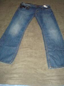 Buffalo Jeans Bleu 32 L X Ragoût