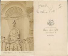 Bernheim, Belgique, Bruxelles, Manneken-Pis Vintage CDV albumen carte de visite,
