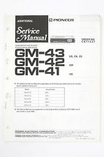 PIONEER GM-43/42/41 Stereo Amplifier ADDITIONAL Service-Manual/Schaltplan o97