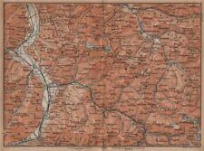BAD RAGAZ PRÄTIGAU MONTAFON ENVIRONS. Wangs Rätikon Bludenz Maienfeld 1901 map