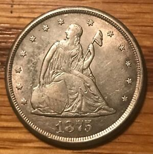 1875-cc. 20c Twenty cents  , VF Scarce date