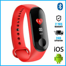 Original M3 Smart Band Watch Sport Montre Horloge Bluetooth Android iOS Red