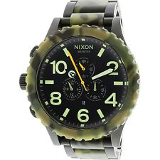 Nixon Men's 51-30 Chrono Two-Tone Ion Plated Watch - Matt Black/Camo #407923