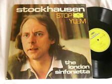 KARLHEINZ STOCKHAUSEN Stop / Ylem London Sinfonietta DG GERMAN LP