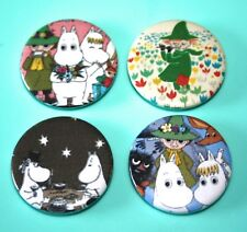Set Of 4 Moomin Troll Snork Maiden and Snuffkin The Moomins Button Pin Bagdes