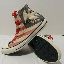 Converse Sneakers Shoes Men's 9  Hi Top Chuck Taylor Vintage American Flag Eagle