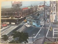 1950s/60s Brisbane Trams of Australia - Original Acrylic Painting On Canvas