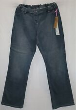 YIM Brand Maternity Blue Adjustable Elastic Band Waist Jeans Size 14 BNWT #LIN