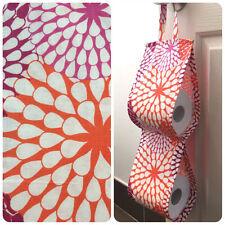 Double Toilet Roll Holder/ Toilet Paper Holder/ Bathroom - Floral Firework