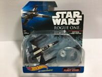 2016 HOT WHEELS STAR WARS ROGUE ONE PARTISAN X-WING FIGHTER-W/FLIGHT STAND-NEW!