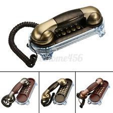 Vintage Retro Antique Wall Mount Phone Wired Cored Landline Telephone Decoration