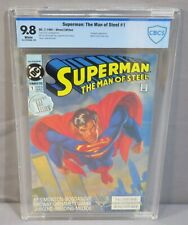 SUPERMAN: THE MAN OF STEEL #1 (White Pages) CBCS 9.8 NM/MT DC Comics 1991 cgc