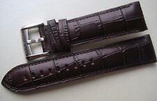 GENUINE EMPORIO ARMANI WATCH STRAP BAND BROWN LEATHER 22 mm & STEEL BUCKLE NEW