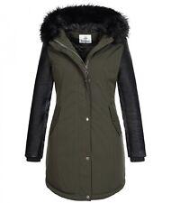 Ladies Winter Jacket Winter Coat Art fur Collar Hood Warm Outdoor Jacket D-347