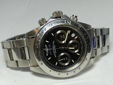 Invicta Men's 40mm Speedway Professional Chrono Silver Tone Raven Dial SS Watch