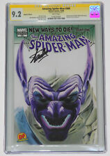 AMAZING SPIDER-MAN #568 CGC 9.2 SS BY STAN LEE DYNAMIC FORCES NEGATIVE EDITION
