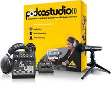 Behringer PODCASTUDIO USB Podcast Studio - Xenyx 502 - Interface WOW!
