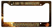 L@K! Firefly Serenity I aim to Misbehave - License Plate Frame - Browncoats