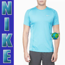 Nike Men's Size Xl Dry Dri-Fit Miler Running Top Upf +40 872021 432 Blue