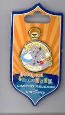 Disney Alice in Wonderland White Rabbit Large Pocket Watch Marathon Event Pin