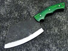 Elegant Custom hand Forged Railroad Spike Carbon Steel Blade Chopper Knife 594