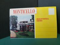 Vtg FoldOut Postcard View Book Monticello CHARLOTTESVILLE VA SOUVENIR JEFFERSON