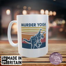 Personaslised Retro asesinato Yoga lucha Karate Gráfico Taza-Adulto Humor Taza