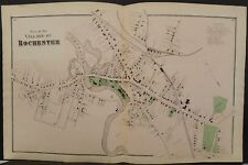 New Hampshire Strafford County Map Rochester 1871 Double Page Y14#91
