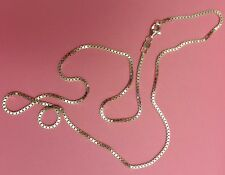 Box Chain -- Sterling Silver -- 1.5mm* -- 28 inch* --  Made in Italy