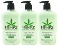 Hempz EXOTIC GREEN TEA AND ASIAN PEAR Herbal Body Moisturizer 17 LOT 3