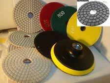 Wet Dry Diamond Polishing Pads 5 Inch 10 Pieces Granite Concrete Sander Glass