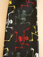 SKELETONS Halloween SILK Novelty Neck Tie  Necktie - Black Red Yellow White