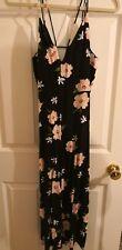 Topshop Floral Cropped Wide leg Jumpsuit UK 10