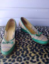Vtg 1950s Slip on Flats Shoes Loafers Us 8N