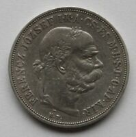Coins 1900 Austria, 5 Korona Silver Coin, Franz Joseph I. #1135