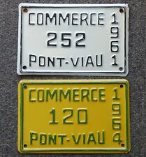 1961 & 1964 'PONT-VIAU' Laval, Quebec COMMERCE small license plates FREE SHIP!