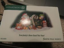 """Dept 56 North Pole """"Everybody's Been Good This Year!"""" Accessory - NIB"""