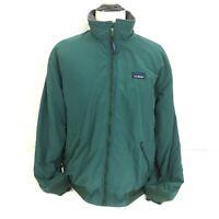 Vintage LL Bean Warm-Up Jacket Men XL Green Fleece-Lined Full-Zip Logo