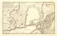 """la rochelle"". fortifed ville plan. charente-maritime. de fer 1705 old map"