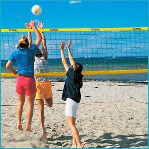 Beachvolleyball Beach Volleyball Trainingsnetz Training Netz, 8,5 x 1,0 m, Gelb