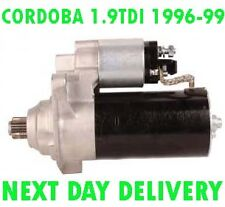 SEAT CORDOBA 1.9TDI BERLINA 1996 1997 1998 1999 REMANUFACTURED STARTER MOTOR
