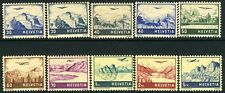 SWITZERLAND-1941 Air Landscapes Set of 10 including 415a-416a  Sg 415-422 V10163