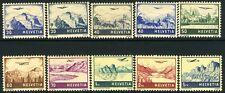 SWITZERLAND-1941 Air Landscapes Set of 10 including 415a-416a  Sg 415-422 V10163