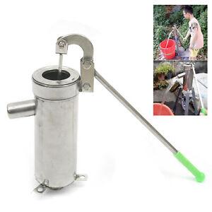 Hand Well pump Manual Deep Water Pump SU202 Stainless Steel Handheld Press 32mm