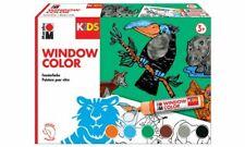 Marabu KiDS Window Color Set DSCHUNGEL Set 6 x 25 ml Fensterfarbe Tiere Kinder