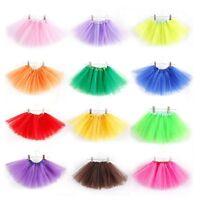 3 Layer Girls Kids Tutu Skirts Party Ballet Dance Wear Dress Skirts Costumes Hot