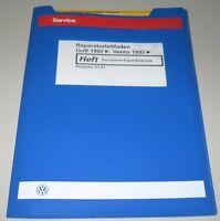 Werkstatthandbuch VW Golf III / Vento / Typ 1H Karosserie Eigendiagnose 01/1997