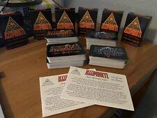 Illumunati New World Order 1994/1995 lot of 369 cards + Starter boxes + Rulebook