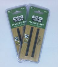 4 x 82mm TCT Planer Blades for to fit Bosch Makita Ryobi DeWalt + FREE POST